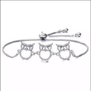 Gold or silver owl bracelet